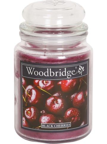 """Woodbridge Geurkaars """"Black Cherries"""" rood - 565 g"""