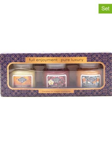 """Candle Brothers 3-delige set: geurkaarzen """"Full Enjoyment"""" meerkleurig - 3x 85 g"""