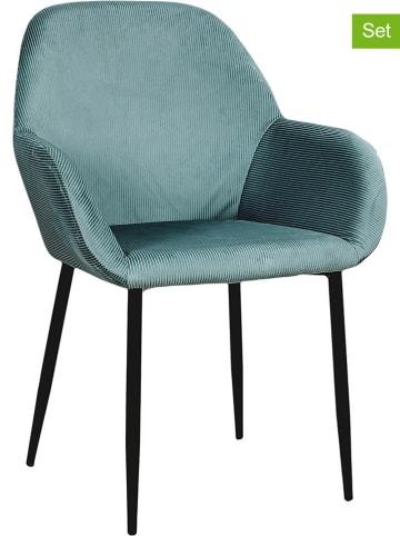 """Rétro Chic Krzesła (2 szt.) """"Giulia"""" w kolorze błękitnym - 59 x 84 x 44,5 cm"""