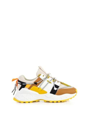 Musk Sneakersy w kolorze biało-żółto-pomarańczoym