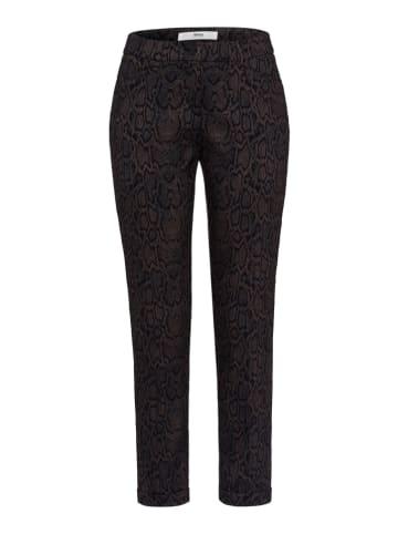 """BRAX Spodnie """"Maron"""" w kolorze brązowo-czarnym"""