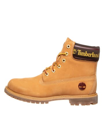 "Timberland Leder-Boots ""6-In Premium"" in Hellbraun"