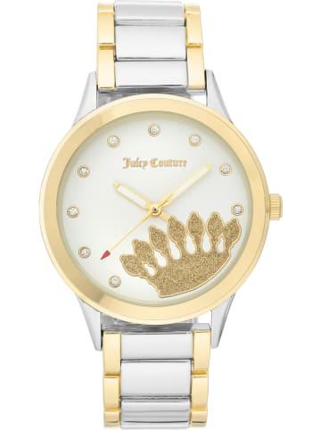 Juicy Couture Zegarek kwarcowy w kolorze srebrno-złoto-białym