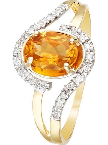"DIAMOND & CO Gouden ring ""Yellowstone"" met diamanten"