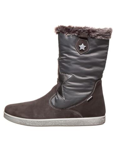 Imac Leder-Boots in Grau
