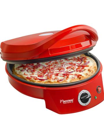 """BESTRON Grill-pizzaoven """"Viva Italia"""" rood"""
