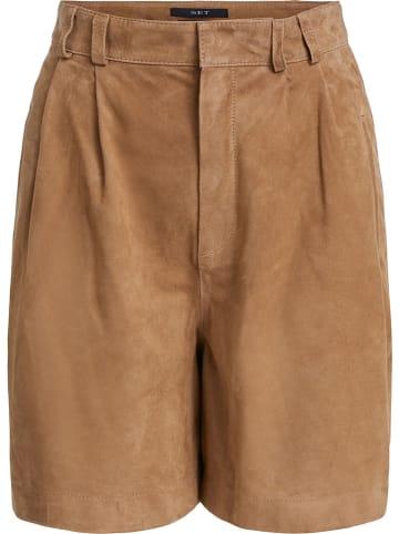 Set Leder-Shorts in Camel