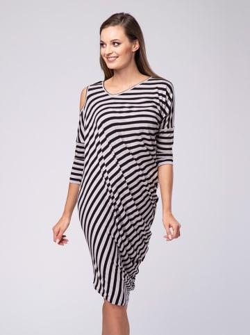 Look Made With Love Sukienka w kolorze szaro-czarnym