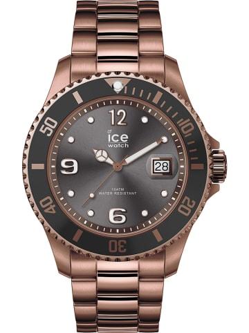 """Ice Watch Zegarek kwarcowy """"Steel"""" w kolorze brązowo-szarym"""