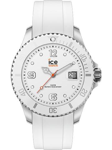 """Ice Watch Quarzuhr """"Steel"""" in Weiß/ Silber"""