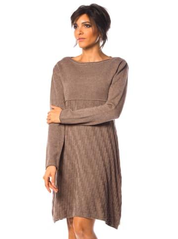 """So Cachemire Sukienka """"Hindy"""" w kolorze szarobrązowym"""