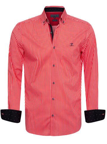 """SIR RAYMOND TAILOR Koszula """"Alonso"""" - Regular fit - w kolorze czerwono-białym"""