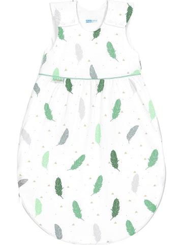 """Odenwälder Śpiworek dziecięcy """"Timmi"""" w kolorze biało-zielonym"""