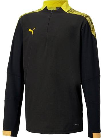 """Puma Koszulka sportowa """"FTBL NXT"""" w kolorze żółto-czarnym"""