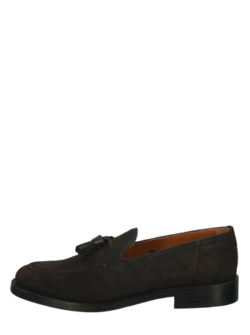 "GANT Footwear Leren instappers ""Almon"" bruin"