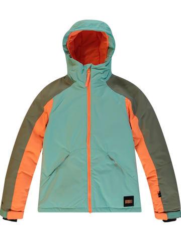 """O'Neill Ski-/ Snowboardjacke """"Dazzle"""" in Grün/ Orange"""