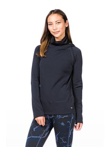"Super.natural Fleece trui ""Mountain"" donkerblauw"