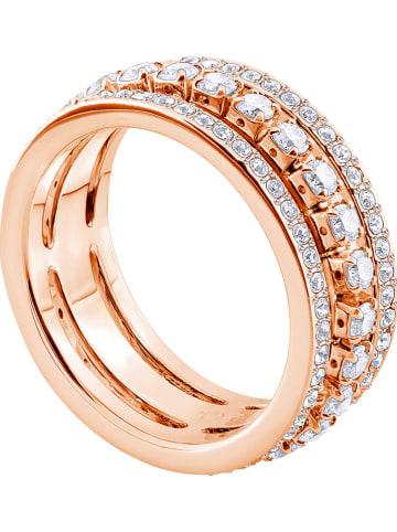 Swarovski Rosévergold. Ring mit Swarovski Kristallen