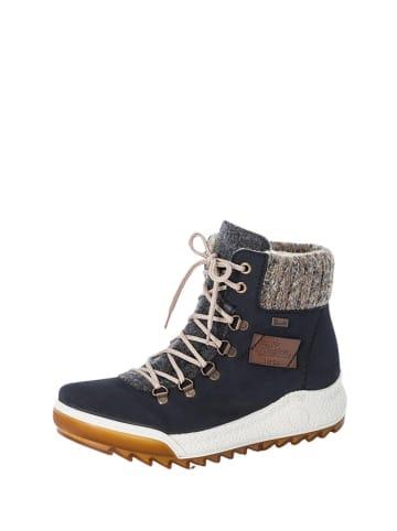Rieker Leren boots donkerblauw/grijs