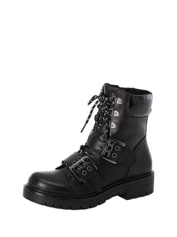 Rieker Leren boots zwart