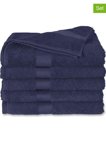 Ten Cate 2-delige set: badhanddoeken donkerblauw