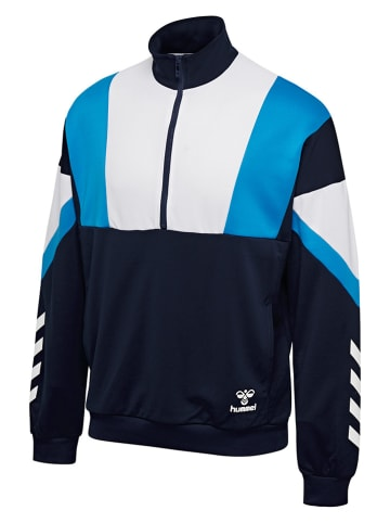 "Hummel Trainingspullover ""Draco"" in Dunkelblau/ Weiß/ Blau"