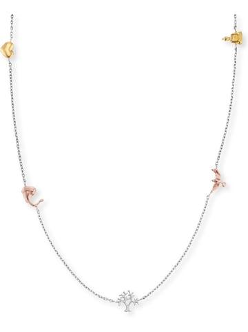 Engelsrufer Silber-Halskette mit Schmuckelementen - (L)40 cm