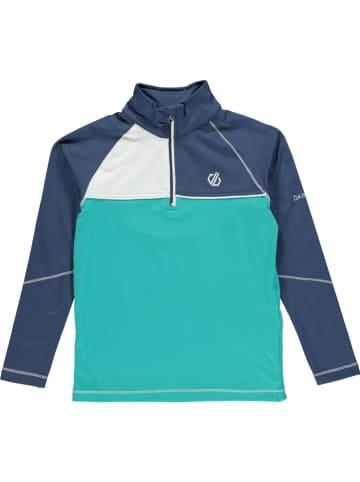 """Dare 2b Trainingsshirt """"Core"""" turquoise/donkerblauw"""
