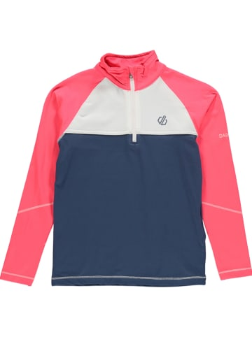 """Dare 2b Functioneel shirt """"Core"""" donkerblauw/lichtroze"""