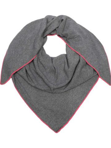 Zwillingsherz Tuch in Grau - (L)120 x (B)150 cm