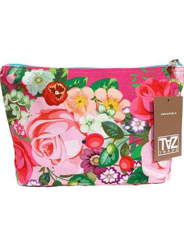 """TAZ Kosmetiktasche """"Pink Roses"""" in Bunt - (B)21 x (H)17 x (T)8 cm"""