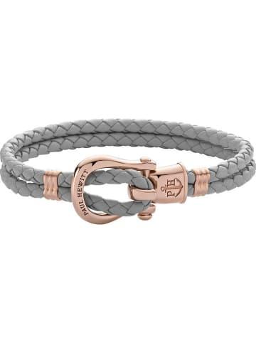 """Paul Hewitt Leren armband """"Phinity"""" grijs"""