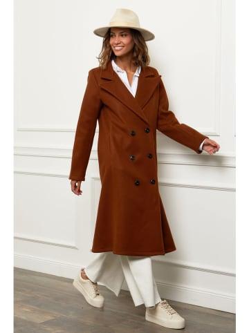 Alice & Charlotte Płaszcz w kolorze brązowym