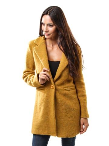 Le Comptoir du Manteau Płaszcz przejściowy w kolorze żółtym