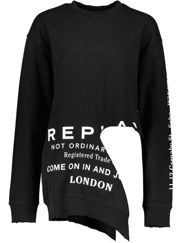 Replay Bluza w kolorze czarnym