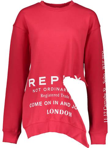 Replay Bluza w kolorze czerwonym