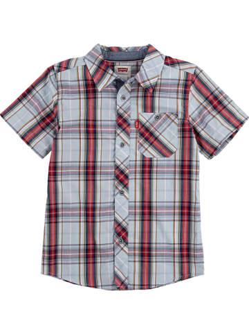 Levi's Kids Koszula w kolorze czerwono-błękitnym