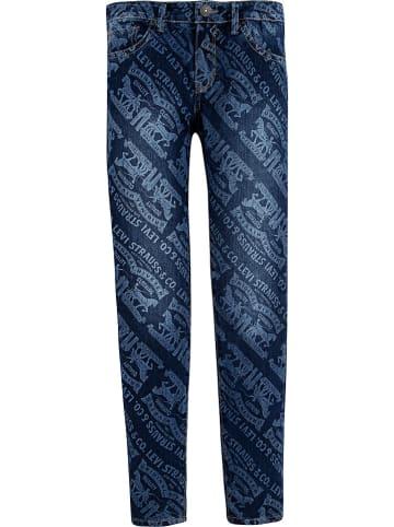 Levi's Kids Spijkerbroek - 710 super skinny fit - donkerblauw