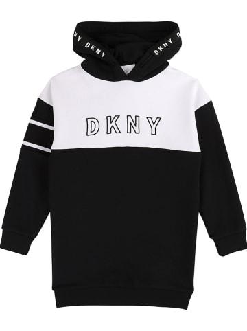 DKNY Sweatjurk zwart/wit