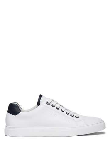 Polo Club Leren sneakers wit