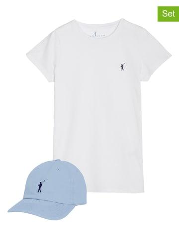 Polo Club 2-częściowy zestaw w kolorze biało-niebieskim