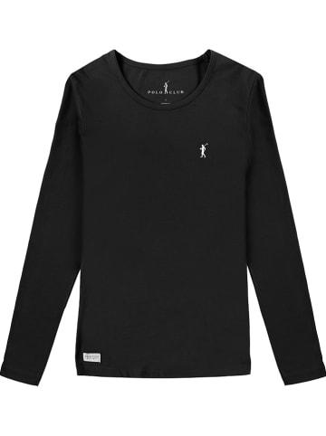 Polo Club Koszulka w kolorze czarnym