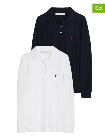 Polo Club 2-delige set: poloshirts wit/zwart
