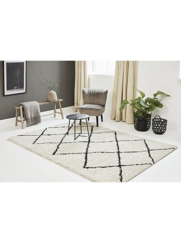 Lifa Living Laagpolig tapijt crème/zwart