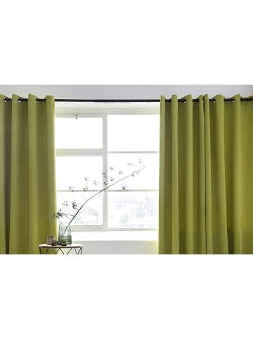Lifa Living Zasłona w kolorze zielonym