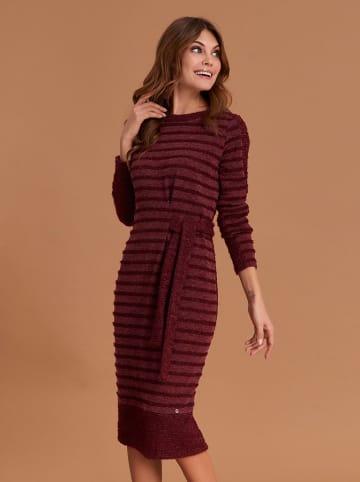 Feria Sukienka w kolorze bordowym ze wzorem