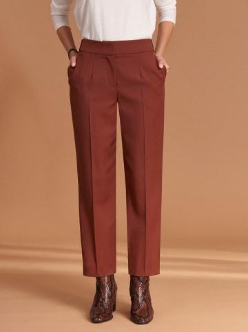 Feria Spodnie w kolorze brązowym