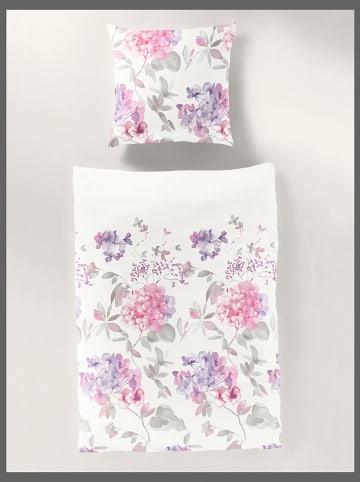 Bierbaum Komplet pościeli renforcé w kolorze fioletowo-różowym