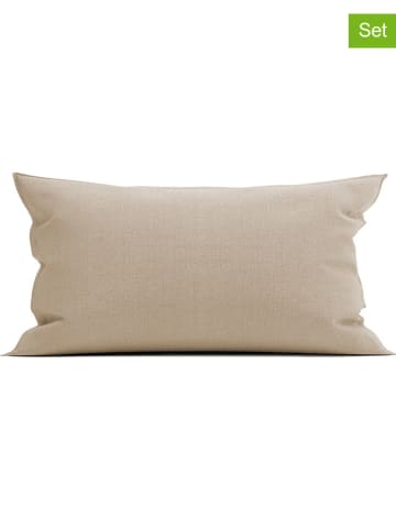 """Heckett Lane Poszewki flanelowe (2 szt.) """"Franela"""" w kolorze beżowym na poduszkę"""