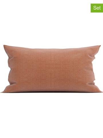 """Heckett Lane Poszewki flanelowe (2 szt.) """"Franela"""" w kolorze czerwonym na poduszkę"""
